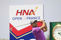 Fabrizio Zanotti (PAR) on the 10th tee during Round 3 of the HNA Open De France at Le Golf National in Saint-Quentin-En-Yvelines, Paris, France on Saturday 30th June 2018.<br /> Picture:  Thos Caffrey | Golffile