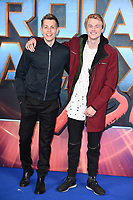 James Mcvey &amp; Tristan Evans (The Vamps) at the European premiere for &quot;Guardians of the Galaxy Vol.2&quot; at the Hammersmith Apollo, London, UK. <br /> 24 April  2017<br /> Picture: Steve Vas/Featureflash/SilverHub 0208 004 5359 sales@silverhubmedia.com