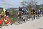 The peloton including Geraint Thomas (WAL) Team Sky give chase on sector 8 Monte Santa Maria during Strade Bianche 2019 running 184km from Siena to Siena, held over the white gravel roads of Tuscany, Italy. 9th March 2019.<br /> Picture: Eoin Clarke | Cyclefile<br /> <br /> <br /> All photos usage must carry mandatory copyright credit (&copy; Cyclefile | Eoin Clarke)