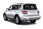 Car pictures of rear three quarter view of 2018 Nissan Armada SV 5 Door SUV angular rear
