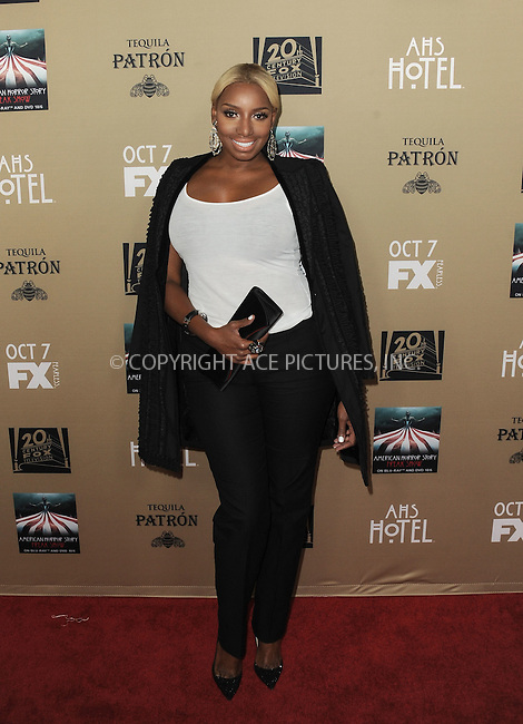 WWW.ACEPIXS.COM<br /> <br /> October 3 2015, LA<br /> <br /> Nene Leakes arriving at the premiere of FX's 'American Horror Story: Hotel' at the Regal Cinemas L.A. Live on October 3, 2015 in Los Angeles, California.<br /> <br /> <br /> By Line: Peter West/ACE Pictures<br /> <br /> <br /> ACE Pictures, Inc.<br /> tel: 646 769 0430<br /> Email: info@acepixs.com<br /> www.acepixs.com