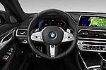 Car pictures of steering wheel view of a 2020 BMW 7-Series M-Sport 4 Door Sedan Steering Wheel