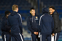 Northampton Town  players inspect the pitch during Portsmouth vs Northampton Town, Leasing.com Trophy Football at Fratton Park on 3rd December 2019
