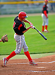 7 July 2008: Batavia Muckdogs' outfielder Beau Riportella in action against the Vermont Lake Monsters at Centennial Field in Burlington, Vermont. The Lake Monsters defeated the Muckdogs 3-2 in the final game of their 3-game series...Mandatory Photo Credit: Ed Wolfstein Photo