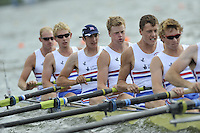 Brandenburg, GERMANY, GBR BM8+,  Bow, Josh DAVIDSON, Chris ABRAHAM, Mason DURANT, Fred GILL, Karl HUSSPITH, Matthew ROSSITER. 2008 FISA U23 World Rowing Championships, Saturday, 19/07/2008, [Mandatory credit: Peter Spurrier Intersport Images]... Rowing Course: Brandenburg, Havel Rowing Course, Brandenburg, GERMANY