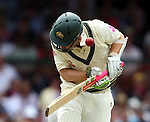Andrew Macdonald gets hit on the helmet with a bouncer in his first test for Australia3 mobile Series - Third Test - Australia v South Africa - SCG - First Day 3-1-09..3 mobile Series - Third Test - Australia v South Africa - SCG - First Day 3-1-09..
