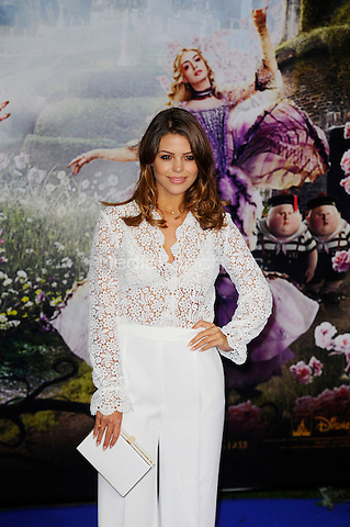 LONDON, ENGLAND - MAY 10: Chloe Lewis attending the 'Alice Through The Looking Glass' European Premiere at Odeon Cinema, Leicester Square in London. on May 10, 2016 in London, England.<br /> CAP/MAR<br /> &copy; Martin Harris/Capital Pictures /MediaPunch ***NORTH AND SOUTH AMERICA ONLY***