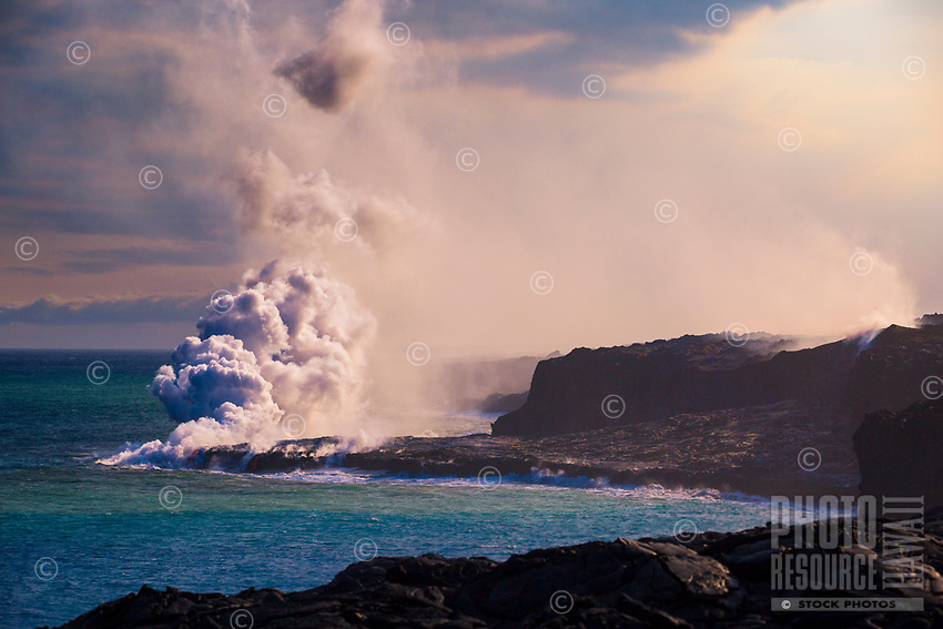 The Kamokuna Lava Flow, Hawai'i Volcanoes National Park, Hawai'i Island.