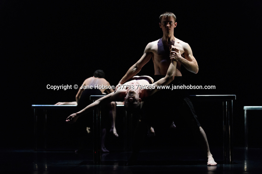 "Scottish Ballet present a double bill of Angelin Preljocaj's ""MC 14/22"" and Crystal Pite's ""Emergence"", at the Festival Theatre, as part of the Edinburgh International Festival. The piece shown is: ""MC 14/22"", choreographed by Angelin Preljocaj."