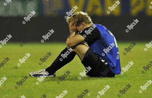 2010-08-25 / Voetbal / seizoen 2010-2011 / R. Antwerp FC - Rupel-Boom / Teleurstelling bij Joren Dom van Boom..Foto: Mpics