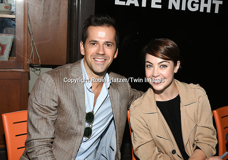 Robert Fairchild and Leanne Cope of An American in Paris attend the Broadway Cares/Equity Fights Aids Flea Market and Grand Auction on September 25, 2016 at the Music Box Theatre and in Shubert Ally in New York, New York, USA. <br /> <br /> photo by Robin Platzer/Twin Images<br />  <br /> phone number 212-935-0770