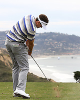 23 JAN 13  Vermont native Keegan Bradley in action during The Farmers Insurance Open at Torrey Pines Golf Course in La Jolla, California. (photo:  kenneth e.dennis / kendennisphoto.com)