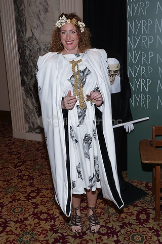 """NEW YORK, NY - OCTOBER 31 : Comedian Judy Gold arrives for the New York Restoration Project's 19th Annual Hulaween Gala """"FELLINI HULAWEENI"""" held at the Waldorf Astoria on October 31, 2014 in New York City.  (Photo by Brent N. Clarke / MediaPunch)"""