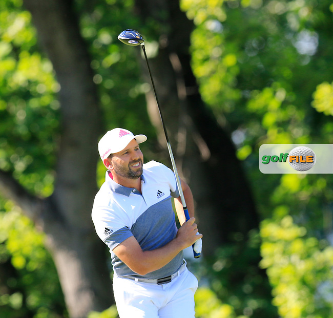 Sergio Garcia (ESP) tees off the 17th tee during Friday's Round 2 of the 2016 U.S. Open Championship held at Oakmont Country Club, Oakmont, Pittsburgh, Pennsylvania, United States of America. 17th June 2016.<br /> Picture: Eoin Clarke | Golffile<br /> <br /> <br /> All photos usage must carry mandatory copyright credit (&copy; Golffile | Eoin Clarke)