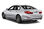 Car pictures of rear three quarter view of a 2018 BMW 5 Series Plug-In Hybrid 530e Sport 4 Door Sedan angular rear