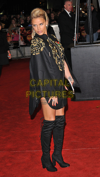 Katie Price ( Jordan ) attends the &quot;The Hunger Games: Mockingjay Part 2&quot; UK film premiere, Odeon Leicester Square, Leicester Square, London, England, UK, on Thursday 05 November 2015. <br /> CAP/CAN<br /> &copy;Can Nguyen/Capital Pictures