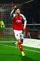 Fleetwood Town's Wes Burns celebrates scoring his side's second goal <br /> <br /> Photographer Richard Martin-Roberts/CameraSport<br /> <br /> The EFL Sky Bet League One - Fleetwood Town v Coventry City - Tuesday 27th November 2018 - Highbury Stadium - Fleetwood<br /> <br /> World Copyright &not;&copy; 2018 CameraSport. All rights reserved. 43 Linden Ave. Countesthorpe. Leicester. England. LE8 5PG - Tel: +44 (0) 116 277 4147 - admin@camerasport.com - www.camerasport.com