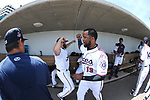 Reno Aces Cody Decker and Socrates Brito get ready for a game against the Fresno Grizzlies in Reno, Nev., on Monday, April 9, 2018. <br /> Photo by Cathleen Allison/Nevada Momentum