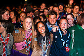 Scouts are all unite at the closing ceremony. Photo: Audun Ingebrigtsen / Scouterna