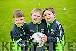 Under 6's James Daly, Cian O'Haran and Ryan Fitzgerald  enjoying the St Pats Blennervile  Cul Camp on Tuesday