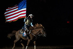 Flag Girl during second round of the Fort Worth Stockyards Pro Rodeo event in Fort Worth, TX - 8.17.2019 Photo by Christopher Thompson