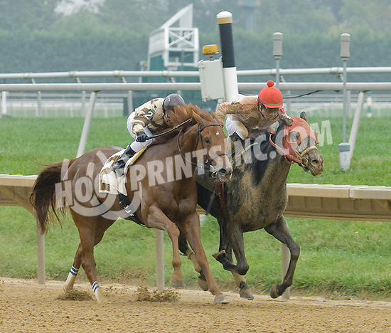 Rebecca Mia winning at Delaware Park on 10/4/12