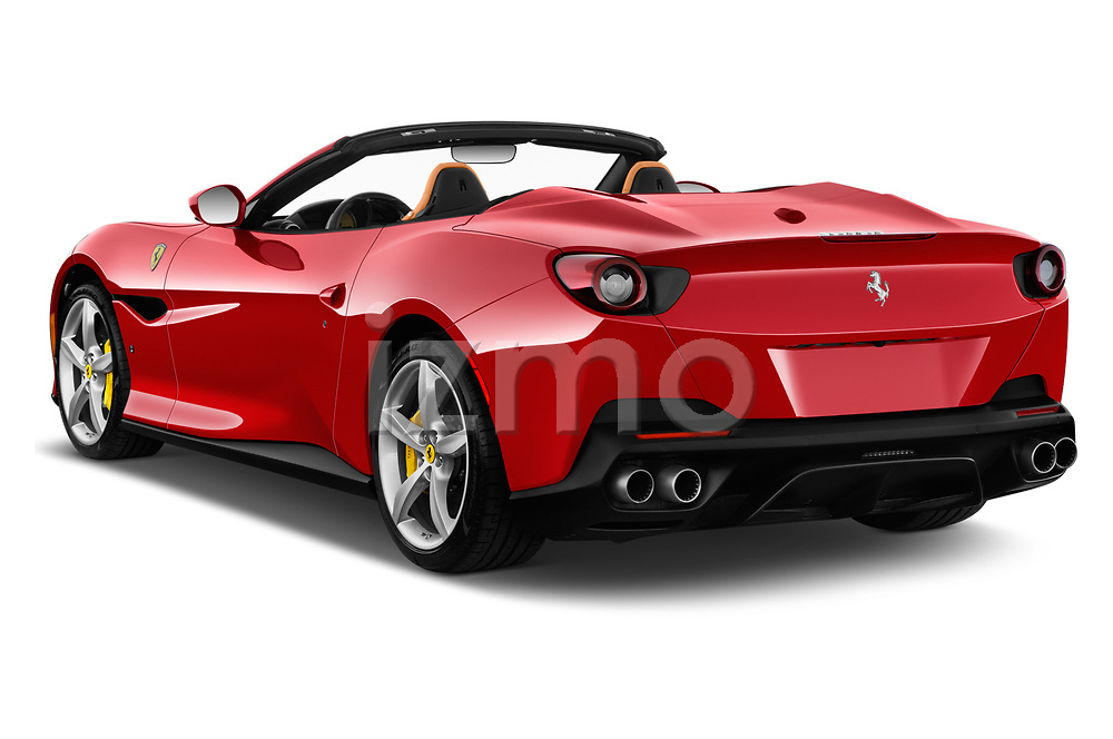 Car pictures of rear three quarter view of a 2018 Ferrari Portofino base 2 Door Convertible angular rear