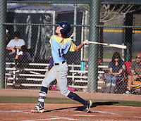 Caiden Huber takes part in the 2020 Under Armour Pre-Season All-America Tournament at the Chicago Cubs training complex and Red Mountain baseball complex on January 18-19, 2020 in Mesa, Arizona (Bill Mitchell)