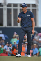 Henrik Stenson (SWE) reacts to his putt on 18 during round 4 of the Houston Open, Golf Club of Houston, Houston, Texas. 4/1/2018.<br /> Picture: Golffile | Ken Murray<br /> <br /> <br /> All photo usage must carry mandatory copyright credit (&copy; Golffile | Ken Murray)