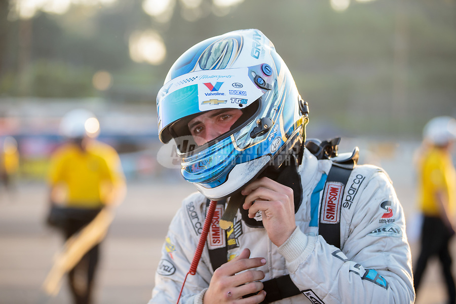 Nov 11, 2018; Pomona, CA, USA; NHRA pro stock driver Tanner Gray during the Auto Club Finals at Auto Club Raceway. Mandatory Credit: Mark J. Rebilas-USA TODAY Sports