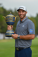 Dustin Johnson (USA) holds the trophy for winning the 2019 World Golf Championships, Mexico, Club De Golf Chapultepec, Mexico City, Mexico. 2/24/2019.<br /> Picture: Golffile | Ken Murray<br /> <br /> <br /> All photo usage must carry mandatory copyright credit (© Golffile | Ken Murray)