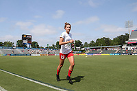 Cary, North Carolina  - Sunday May 21, 2017: Morgan Proffitt prior to a regular season National Women's Soccer League (NWSL) match between the North Carolina Courage and the Chicago Red Stars at Sahlen's Stadium at WakeMed Soccer Park. Chicago won the game 3-1.