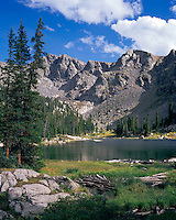 Nolan Lake in the Holy Cross Wilderness area, Colorado