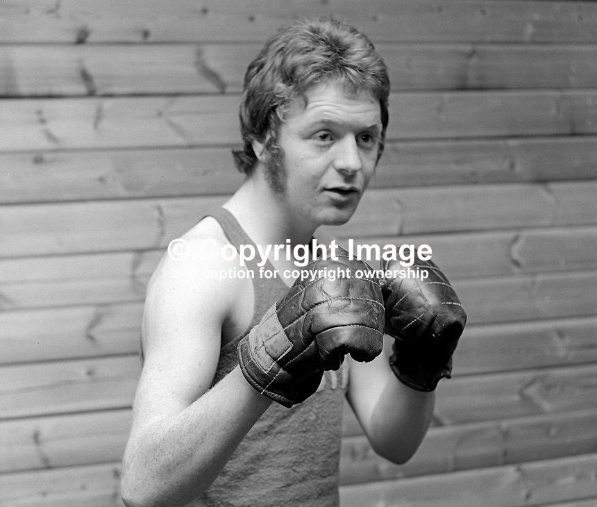 Mick Tohill, aka Michael Tohill, amateur boxer, N Ireland, UK, June 1972, 1972060003448<br />