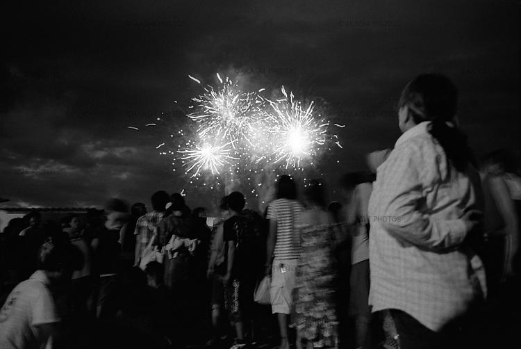 Firework in Nebuta Festival