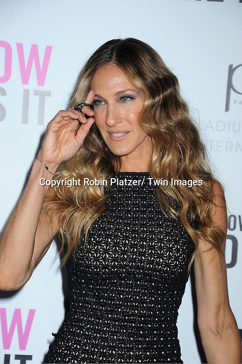 """Sarah Jessica Parker attending the premiere of """" I Don't Know How She Does It"""" on September 12, 2011 at The Loews Lincoln Square in New York City"""
