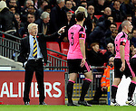 Gordon Strachan manager of Scotland during the FIFA World Cup Qualifying Group F match at Wembley Stadium, London. Picture date: November 11th, 2016. Pic David Klein/Sportimage