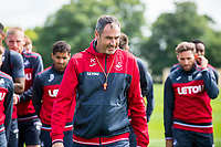 Wednesday 26 July 2017<br /> Pictured: Manager of Swansea City, Paul Clement looks on during training <br /> Re: Swansea City FC Training session takes place at the Fairwood Training Ground, Swansea, Wales, UK