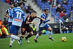 League Santander 2017-2018 - Game: 22.<br /> RCD Espanyol vs FC Barcelona: 1-1.<br /> Lucas Digne vs Jurado.