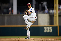 Frisco RoughRiders pitcher Blake Bass (36) during a Texas League game against the Amarillo Sod Poodles on May 17, 2019 at Dr Pepper Ballpark in Frisco, Texas.  (Mike Augustin/Four Seam Images)