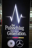 Neue Werbung des DFB mit Partner Mercedes am Mercedes Werk Rastatt