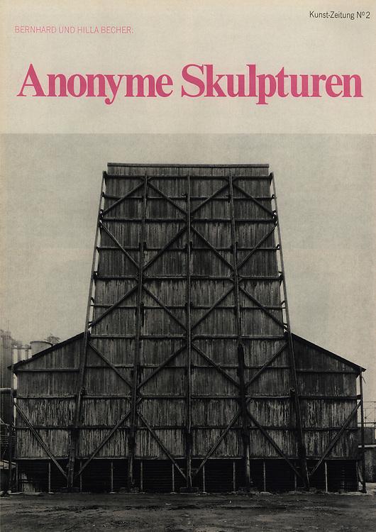 Bernhard &amp; Hilla Becher, Kunst Zeitung N&deg;2 Anonyme Skulpturen.<br /> Editions Michelpresse, D&uuml;sseldorf, janvier 1969 / January 1969.