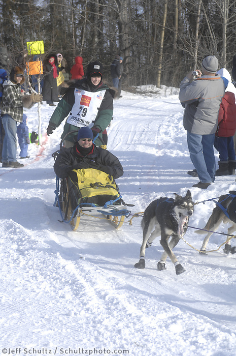 Laura Daugereau Anchorage Start Iditarod 2008.