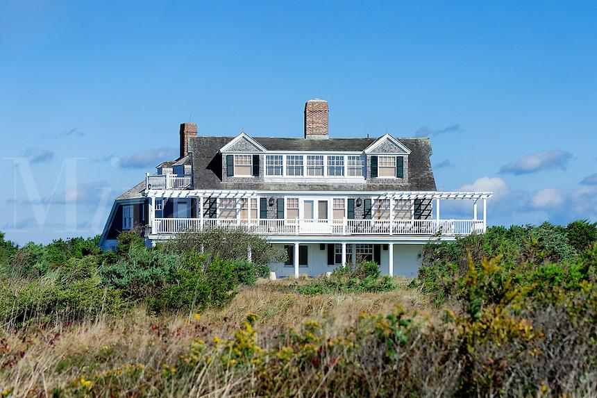 Stately homes, South Beach, Martha's Vineyard, Massachusetts, USA