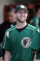 August 14 2008:  Pitcher Scott Deal of the Kane County Cougars, Class-A affiliate of the Oakland Athletics, during a game at Philip B. Elfstrom Stadium in Geneva, IL.  Photo by:  Mike Janes/Four Seam Images