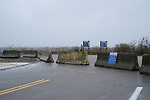 Spink Neck beach in North Kingstown was closed by the Quonset Development Corporation on Friday, April 3, 2020 as per the governor's order to close parks and beaches due to crowds gathering  during the Covid-19 crisis.