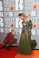 Rita Ora<br /> arrives for the BRIT Awards 2017 held at the O2 Arena, Greenwich, London.<br /> <br /> <br /> &copy;Ash Knotek  D3233  22/02/2017