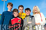 Paddy Walsh, Luke Curtin, Dominic Finnegan, Billy Walsh and Susan Walsh, pictured at the Kingdom Greyhound Stadium, Tralee, GAA Night of Champions on Friday night last.