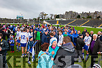 St Mary's fans celebrate with the players after their Munster Intermediate win.
