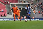 01.08.2015. Cologne, Germany. Pre Season Tournament. Colonia Cup. Valencia CF versus FC Porto.  Brahimi breaks away from Parejo in a first half Porto attack.